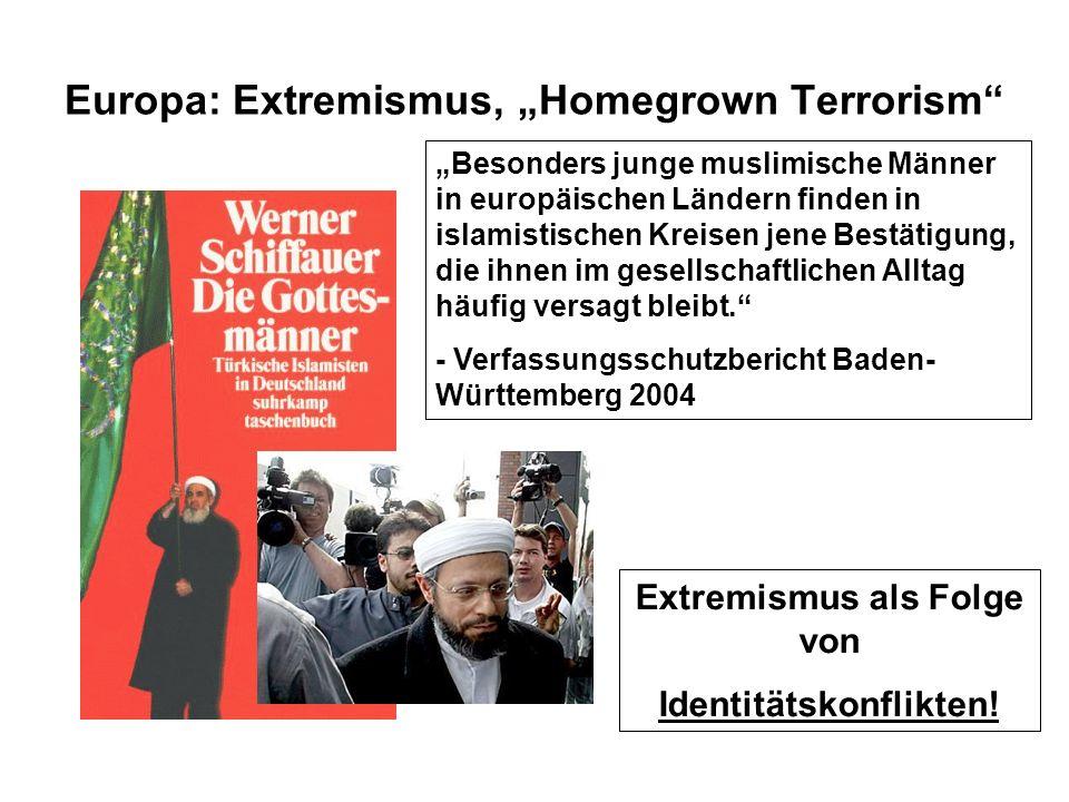 """Europa: Extremismus, """"Homegrown Terrorism"""