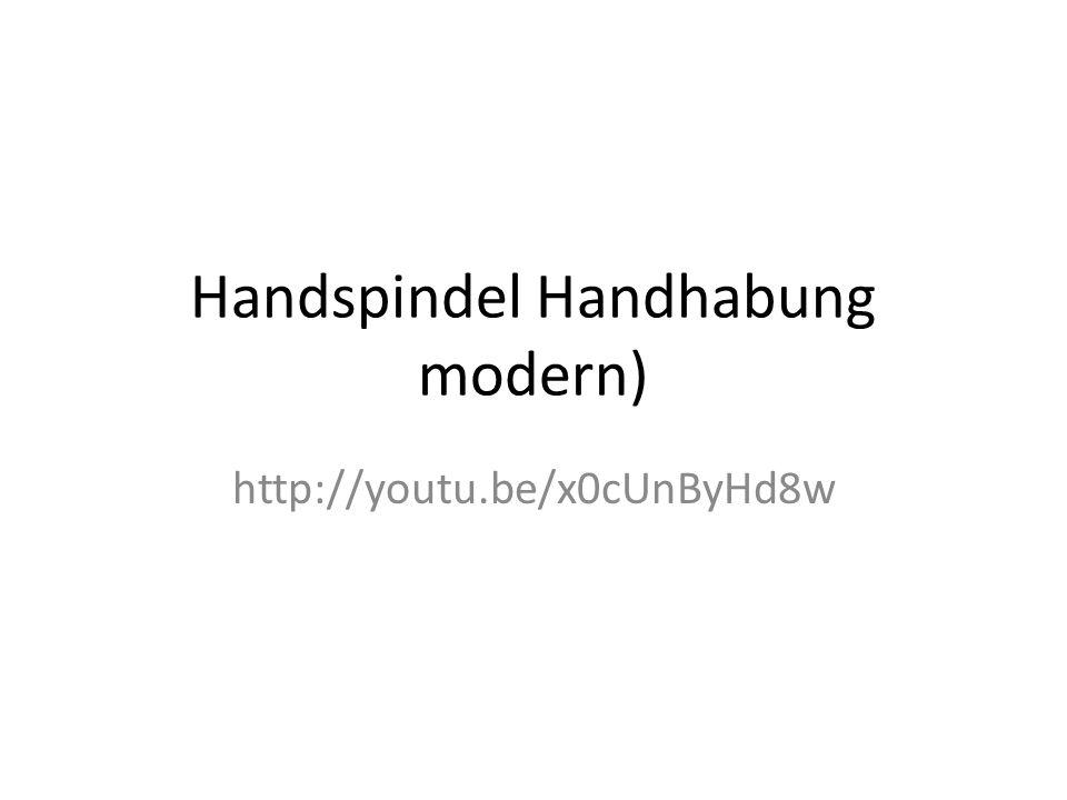 Handspindel Handhabung modern)