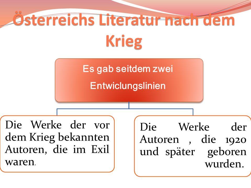 Österreichs Literatur nach dem Krieg