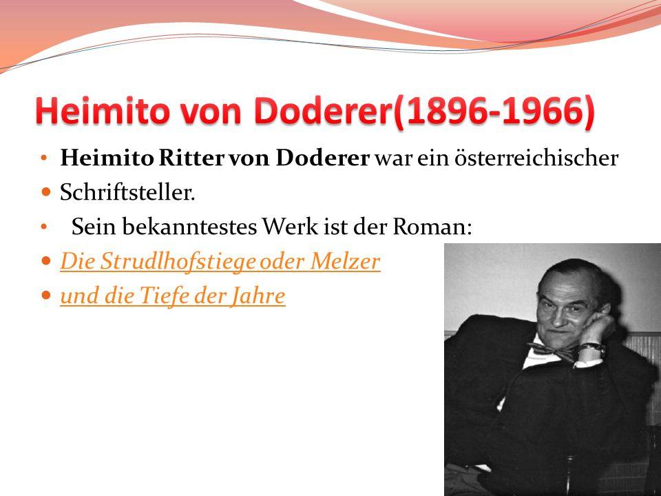 Heimito von Doderer(1896-1966)