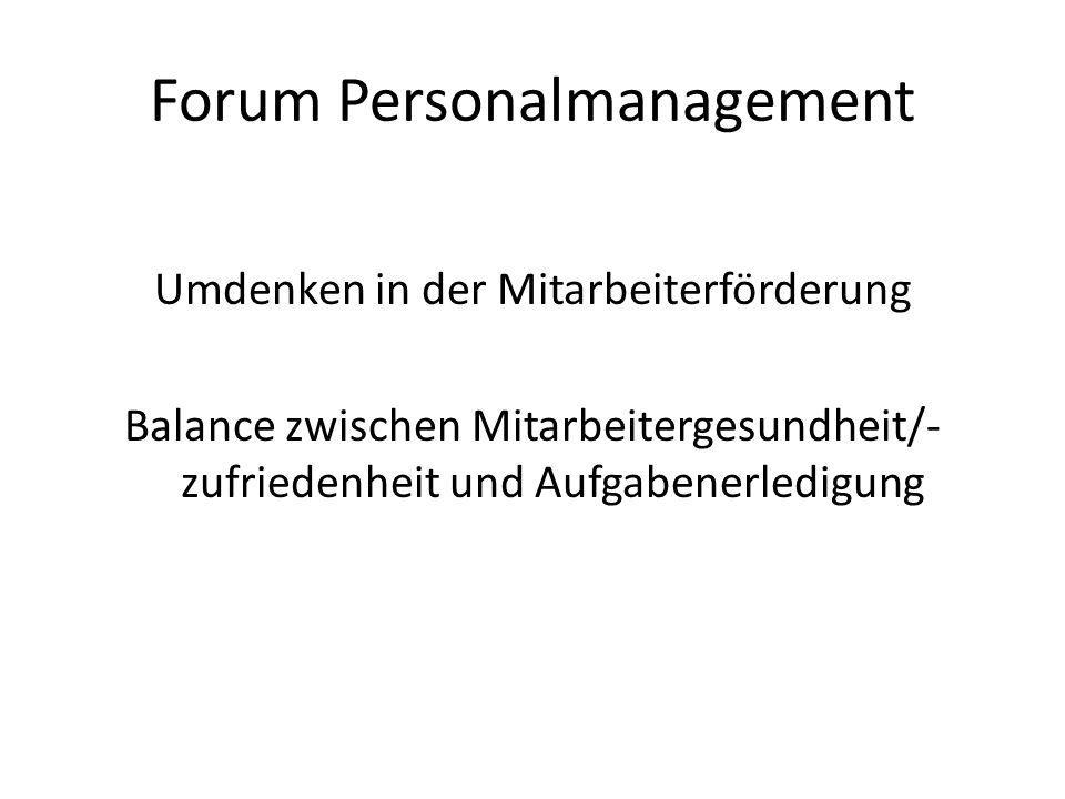 Forum Personalmanagement