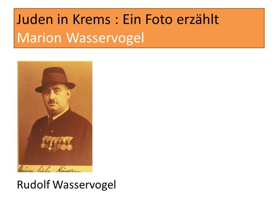 Juden in Krems : Ein Foto erzählt Marion Wasservogel