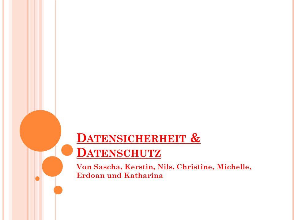 Datensicherheit & Datenschutz
