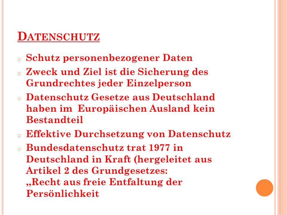 schutz personenbezogener daten deutschland