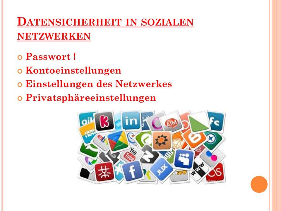 Datensicherheit in sozialen netzwerken