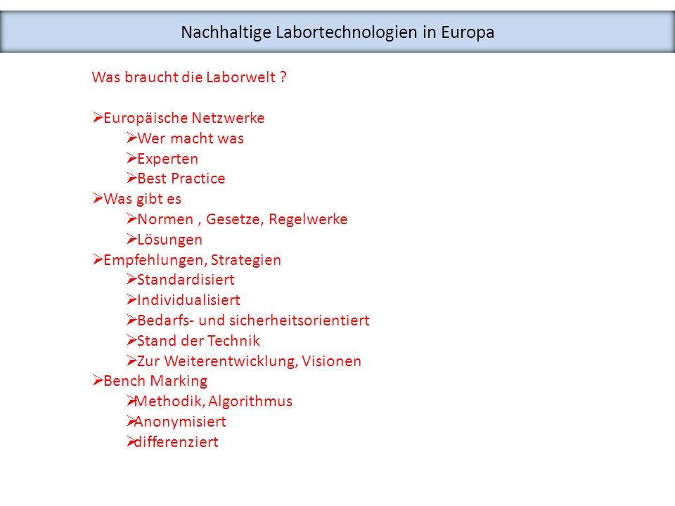 Nachhaltige Labortechnologien in Europa