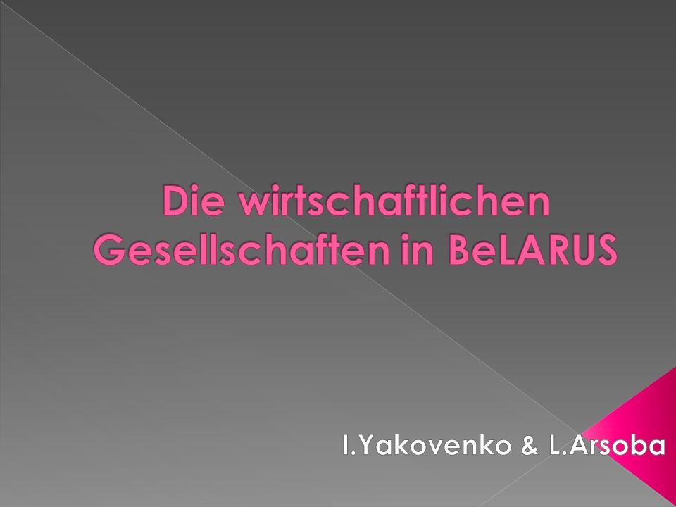 Die wirtschaftlichen Gesellschaften in BeLARUS
