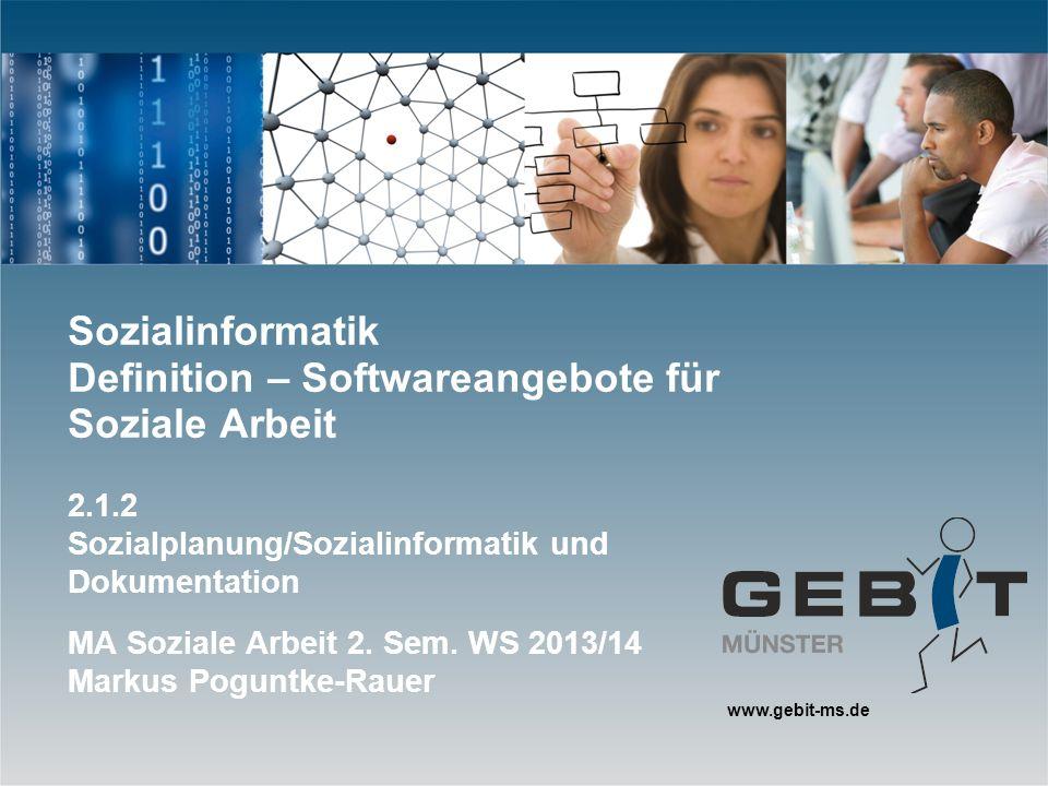 Sozialinformatik Definition – Softwareangebote für Soziale Arbeit