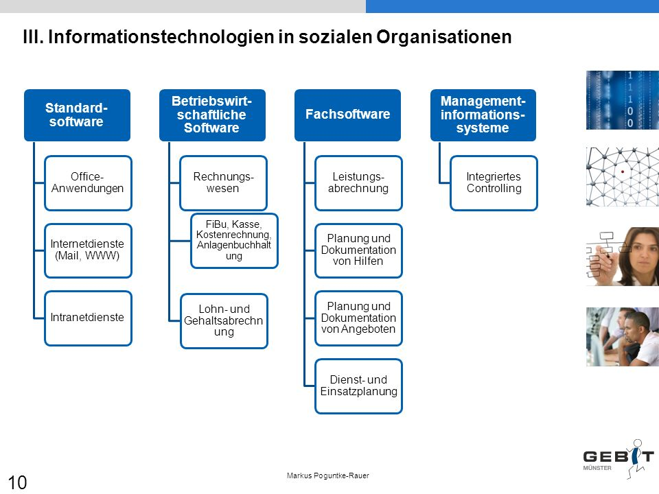 III. Informationstechnologien in sozialen Organisationen