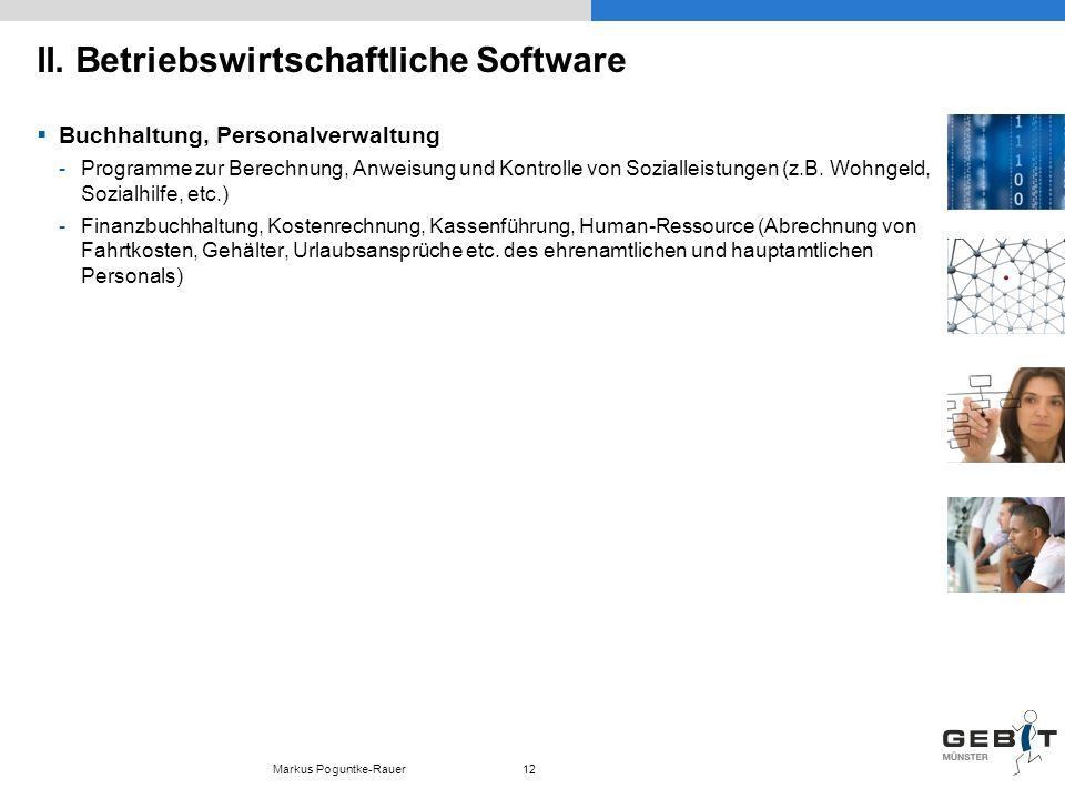 II. Betriebswirtschaftliche Software