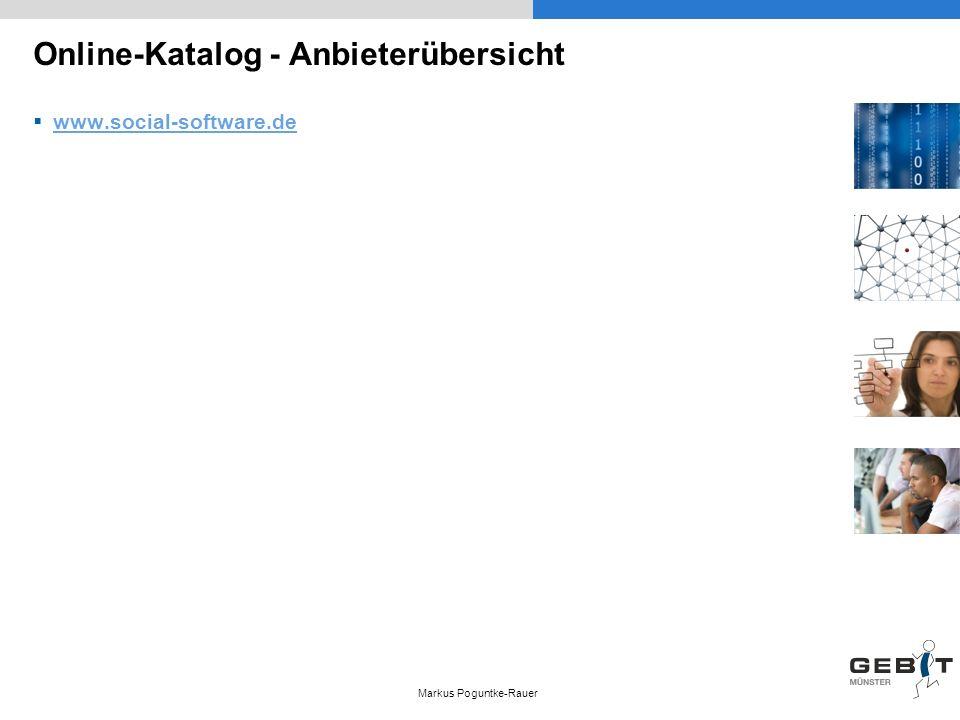 Online-Katalog - Anbieterübersicht