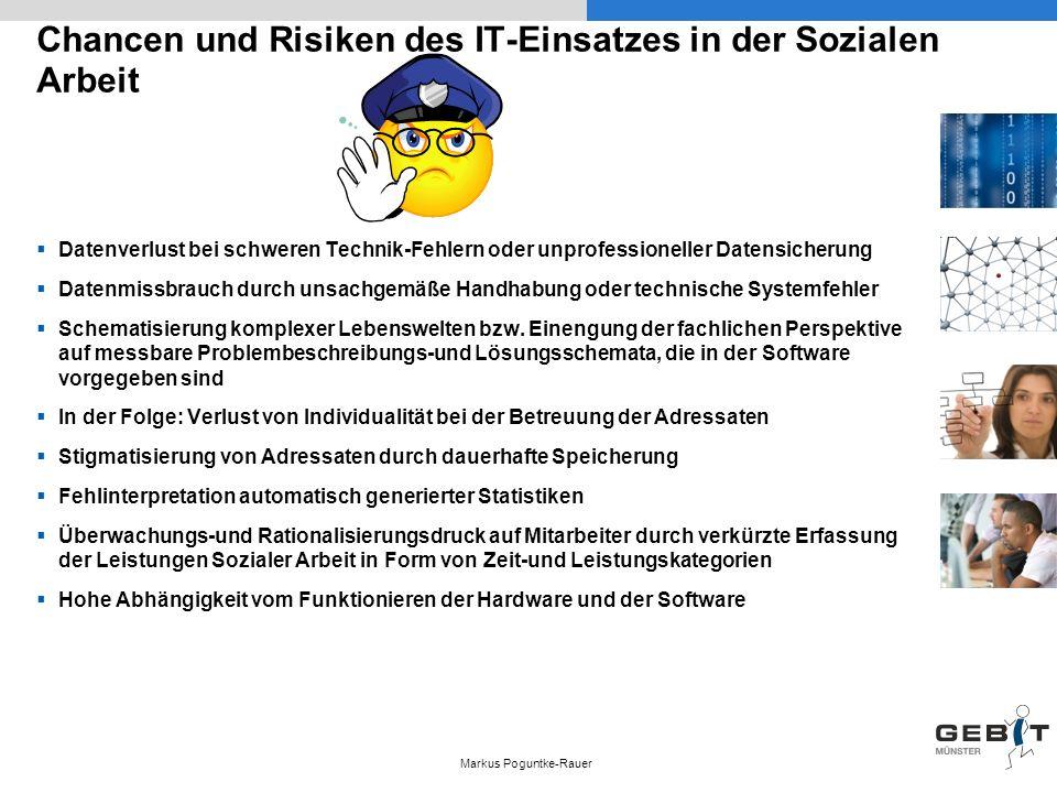 Chancen und Risiken des IT-Einsatzes in der Sozialen Arbeit