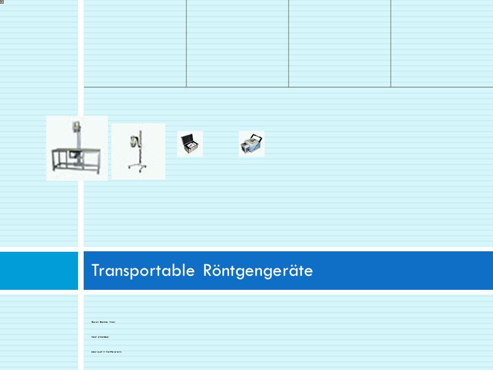 Transportable Röntgengeräte