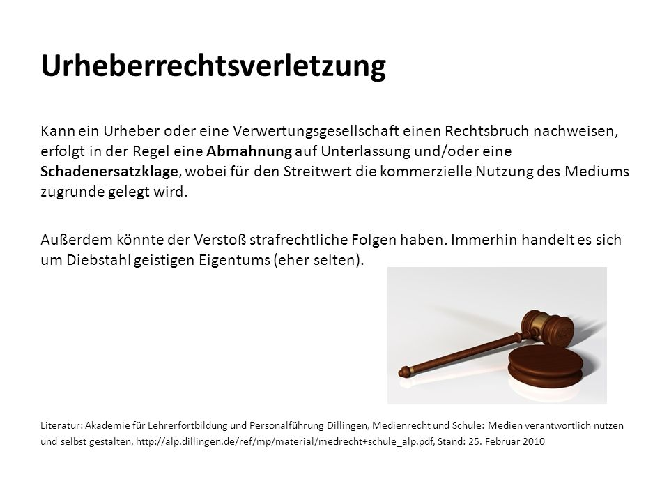 Urheberrechtsverletzung