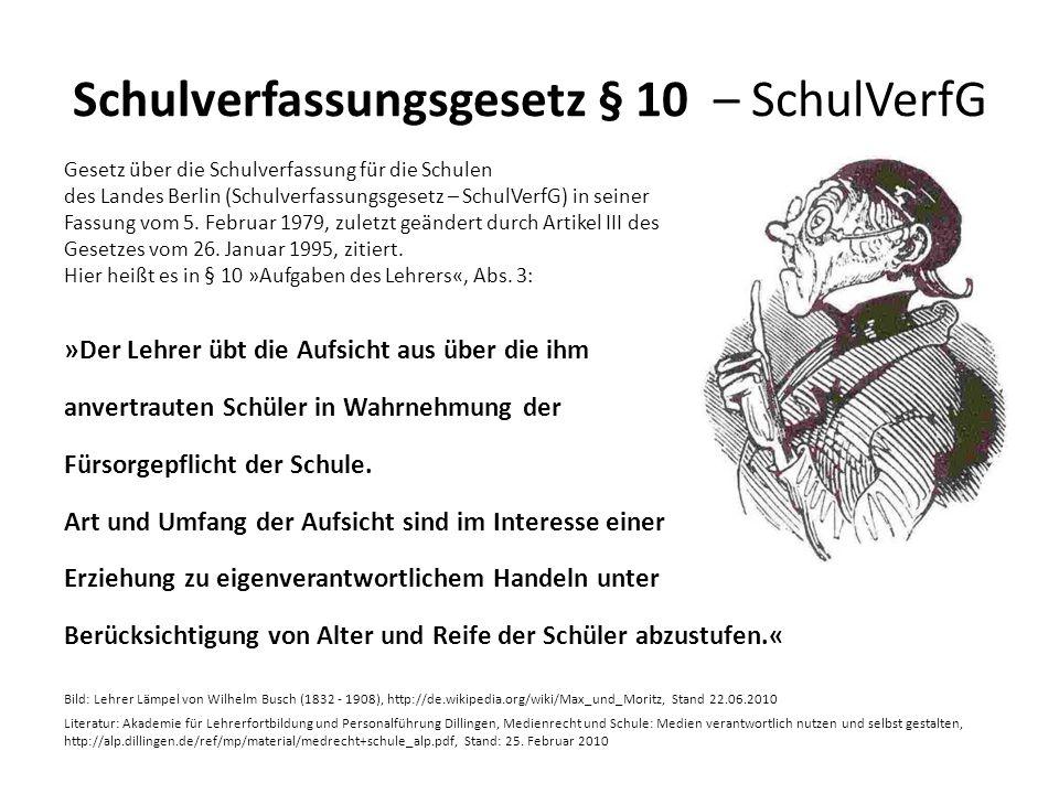 Schulverfassungsgesetz § 10 – SchulVerfG
