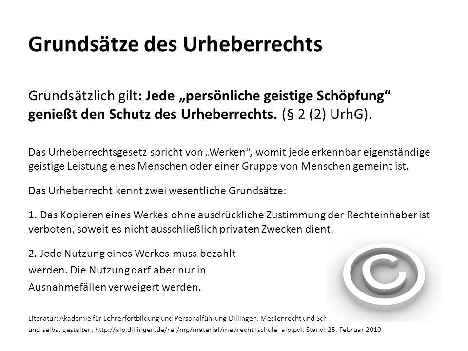 Grundsätze des Urheberrechts