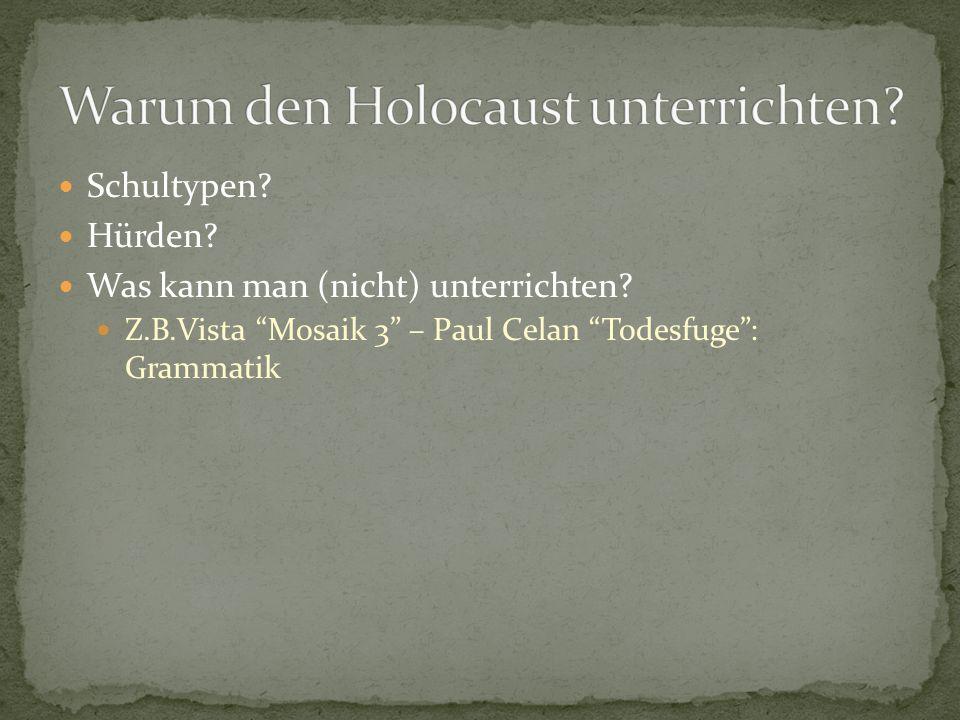 Warum den Holocaust unterrichten