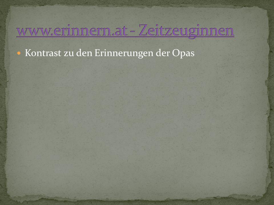 www.erinnern.at - Zeitzeuginnen