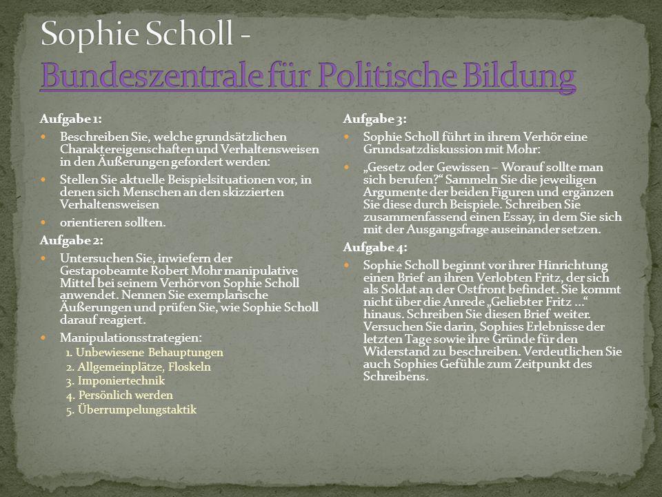 Sophie Scholl - Bundeszentrale für Politische Bildung