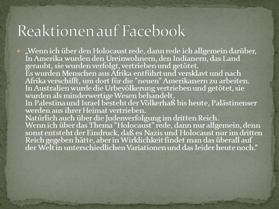 Reaktionen auf Facebook