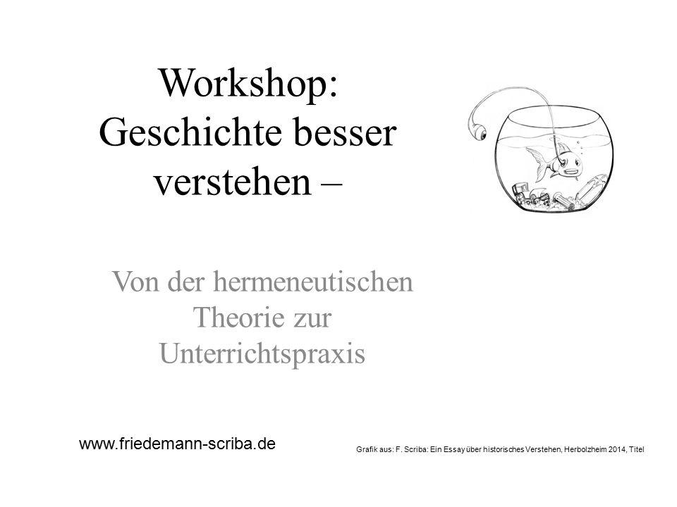 Workshop: Geschichte besser verstehen –