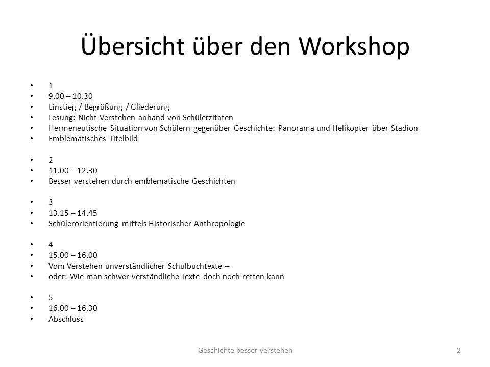 Übersicht über den Workshop