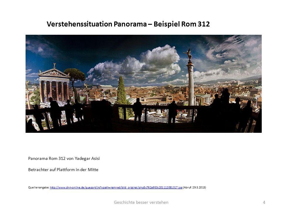 Verstehenssituation Panorama – Beispiel Rom 312