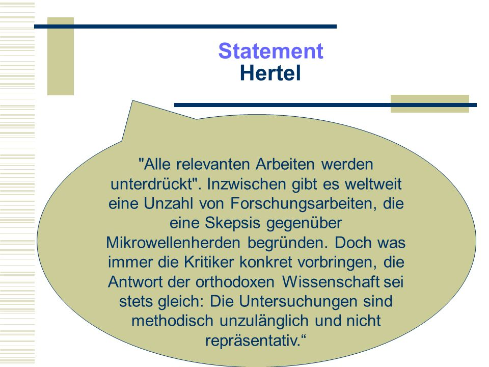 Statement Hertel