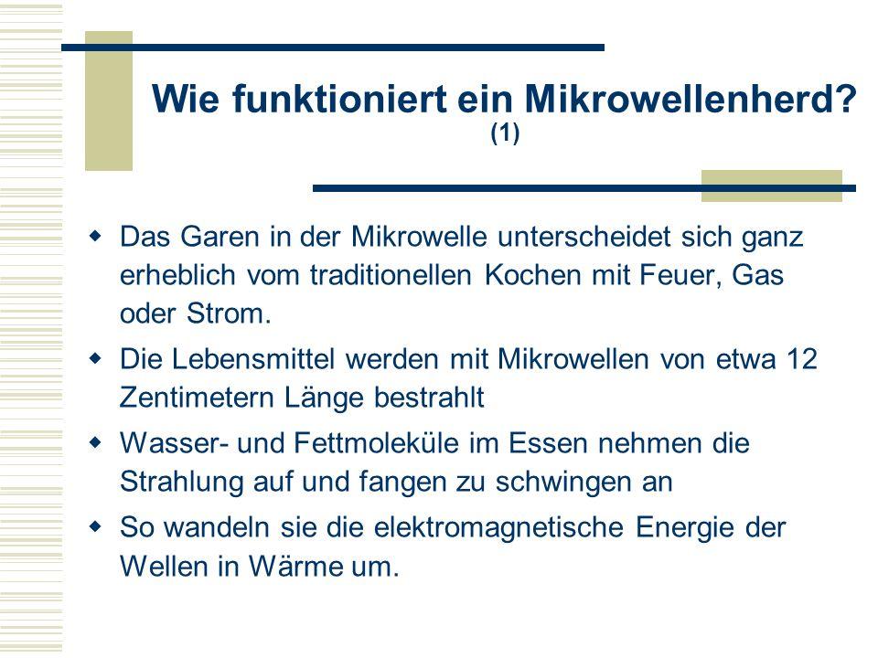 Wie funktioniert ein Mikrowellenherd (1)