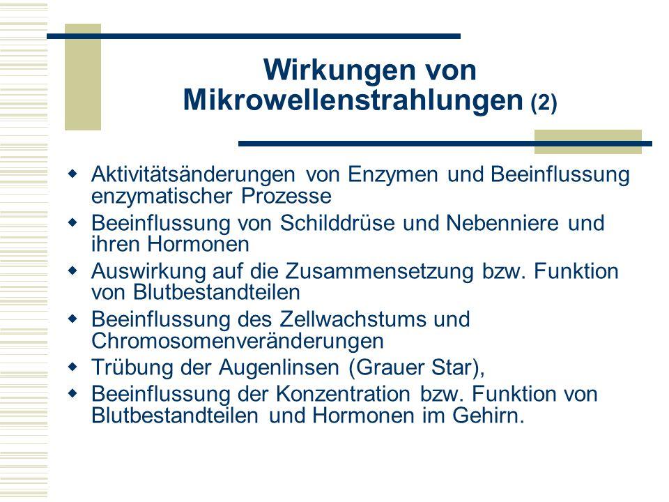 Wirkungen von Mikrowellenstrahlungen (2)