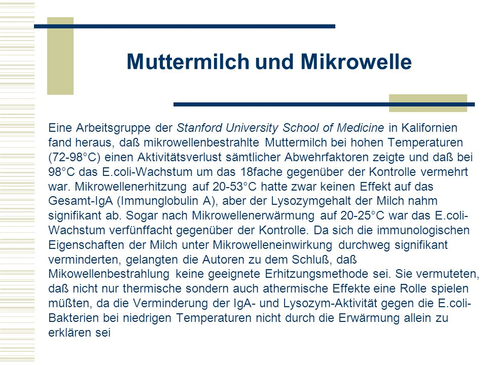 Muttermilch mikrowelle