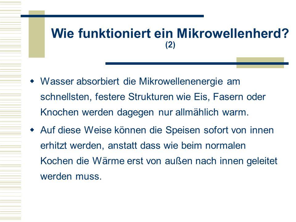 Wie funktioniert ein Mikrowellenherd (2)