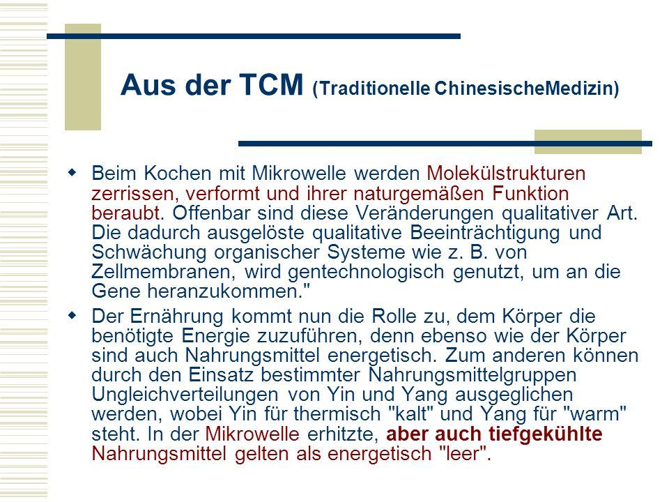 Aus der TCM (Traditionelle ChinesischeMedizin)