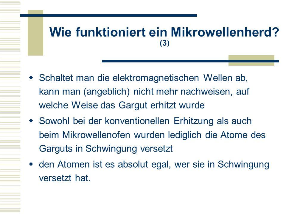 Wie funktioniert ein Mikrowellenherd (3)