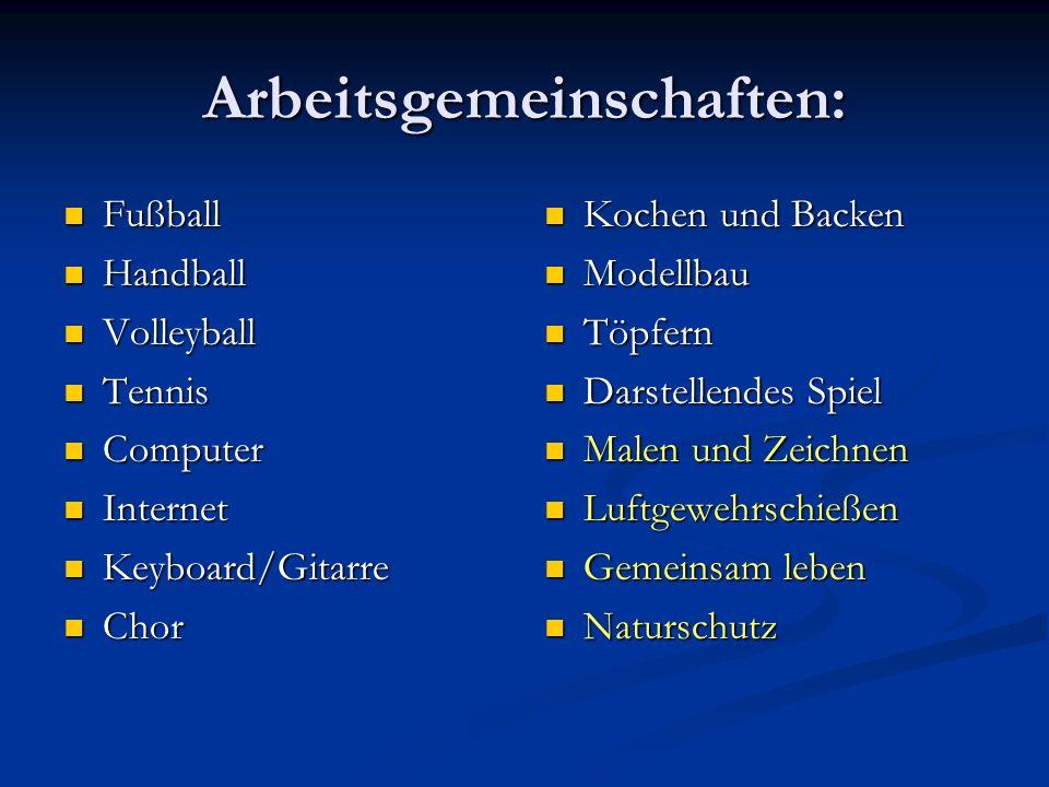 Arbeitsgemeinschaften: