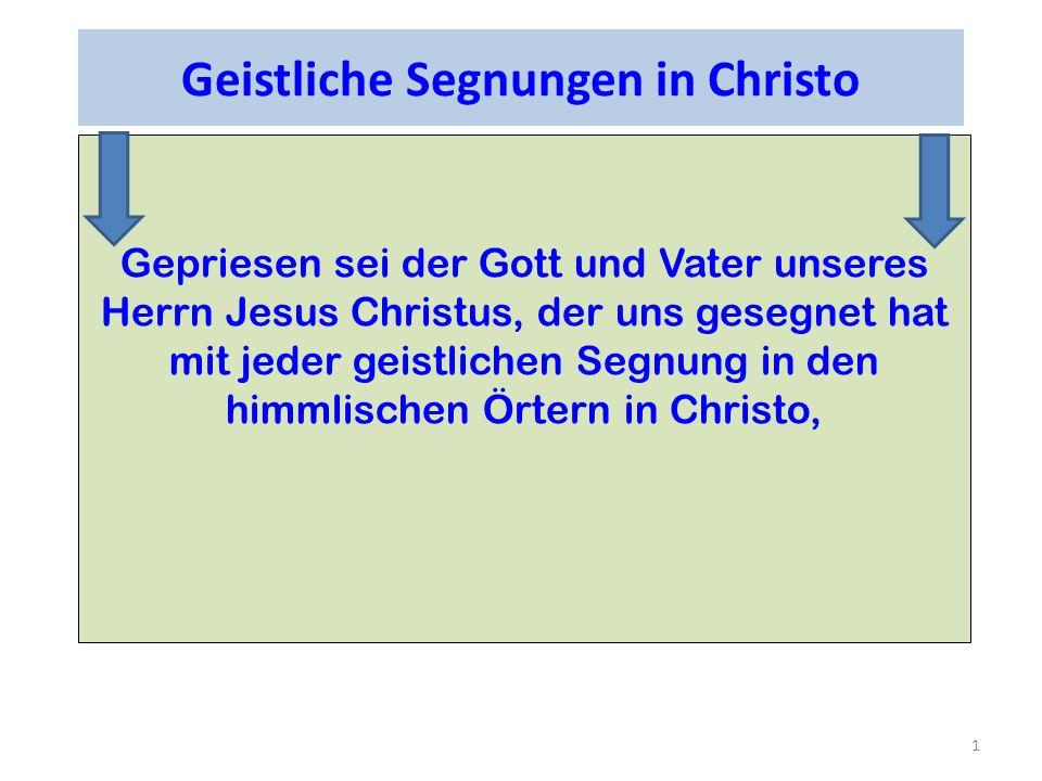 Geistliche Segnungen in Christo