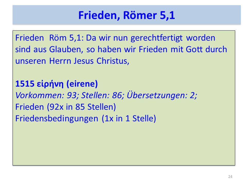Frieden, Römer 5,1