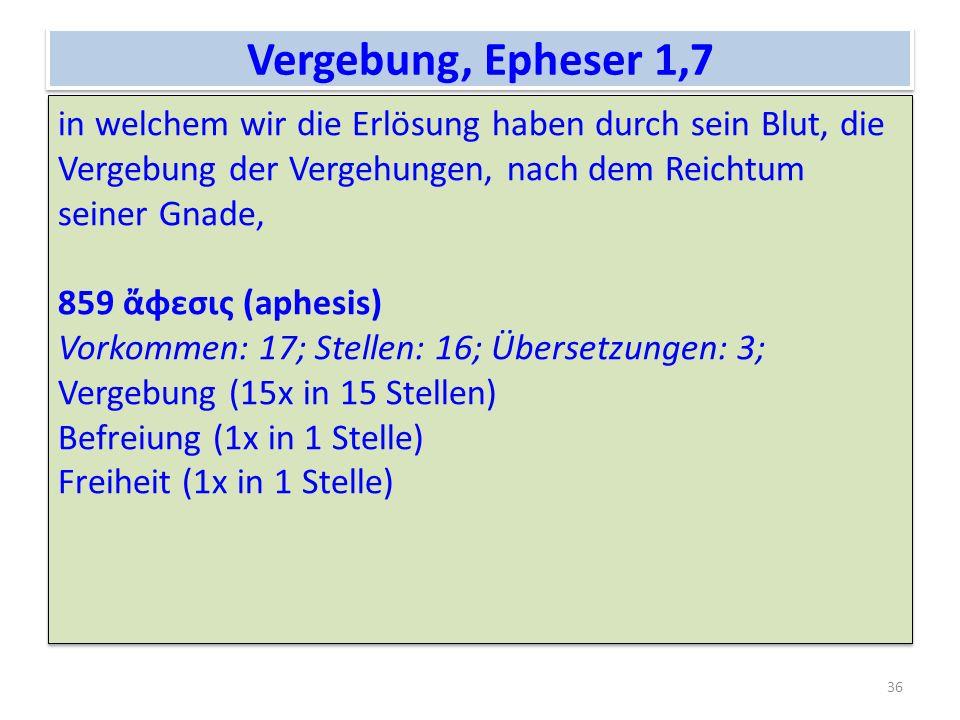 Vergebung, Epheser 1,7