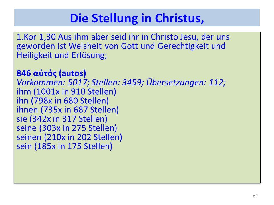 Die Stellung in Christus,