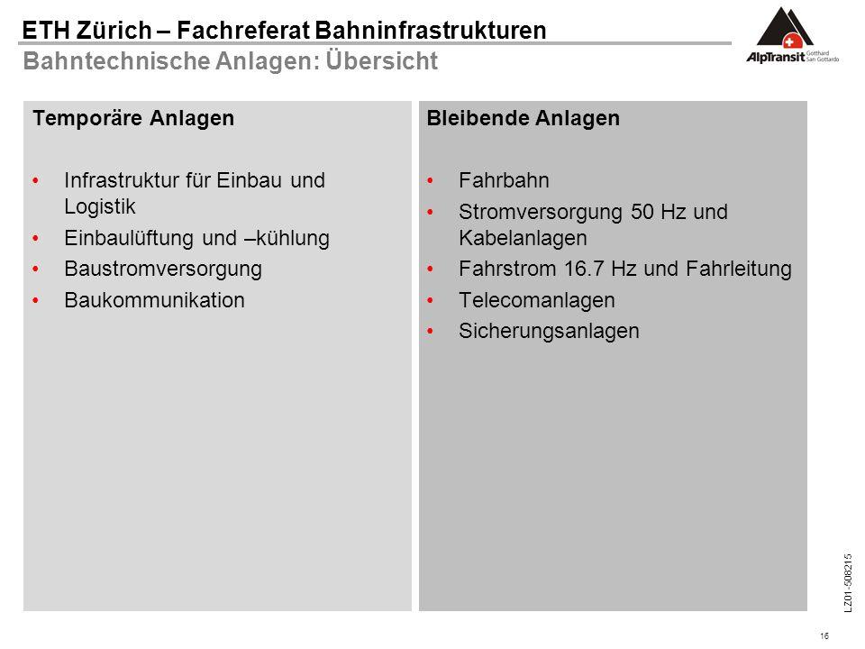 Bahntechnische Anlagen: Übersicht
