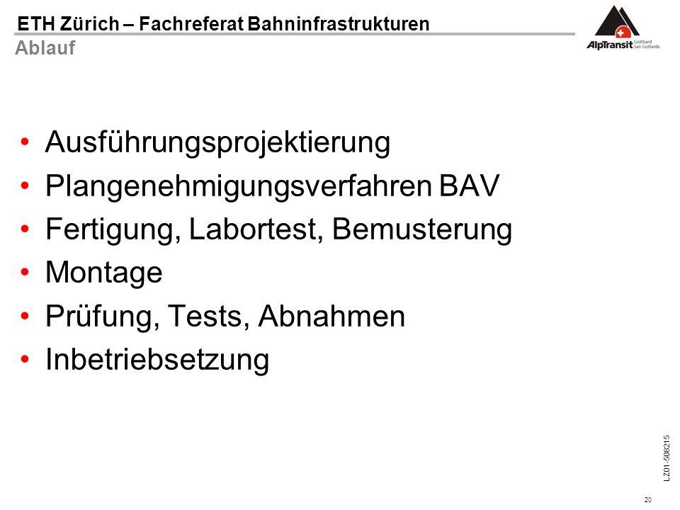 Ausführungsprojektierung Plangenehmigungsverfahren BAV