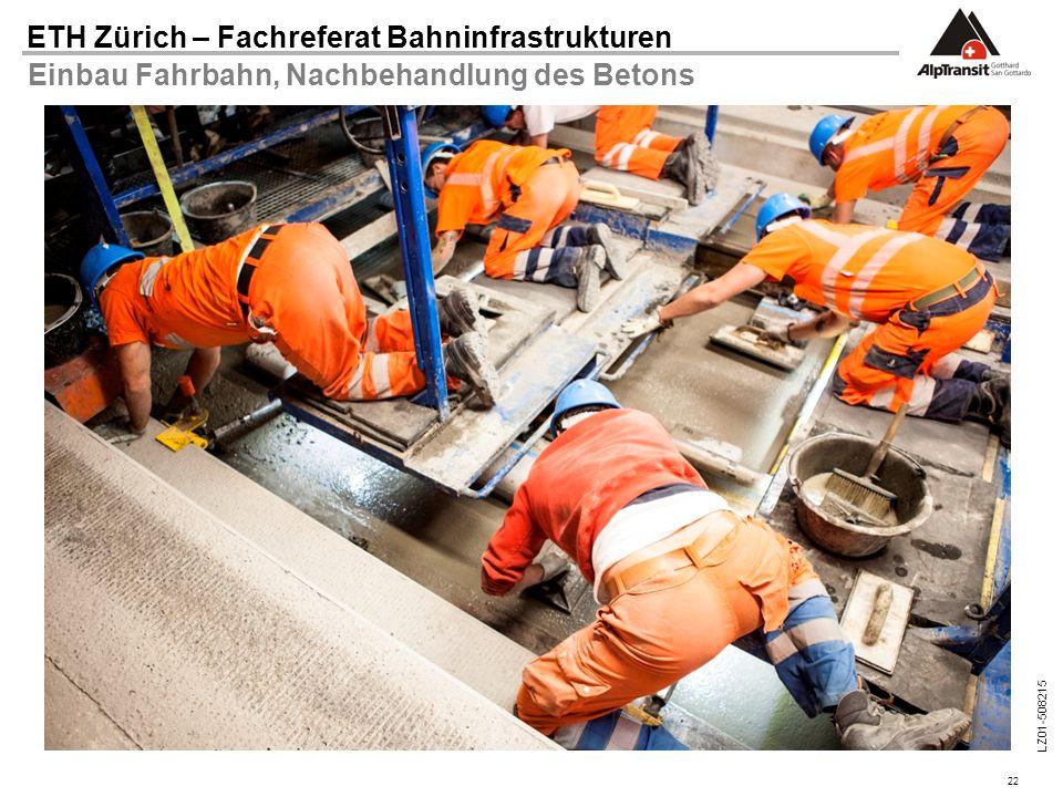 Einbau Fahrbahn, Nachbehandlung des Betons
