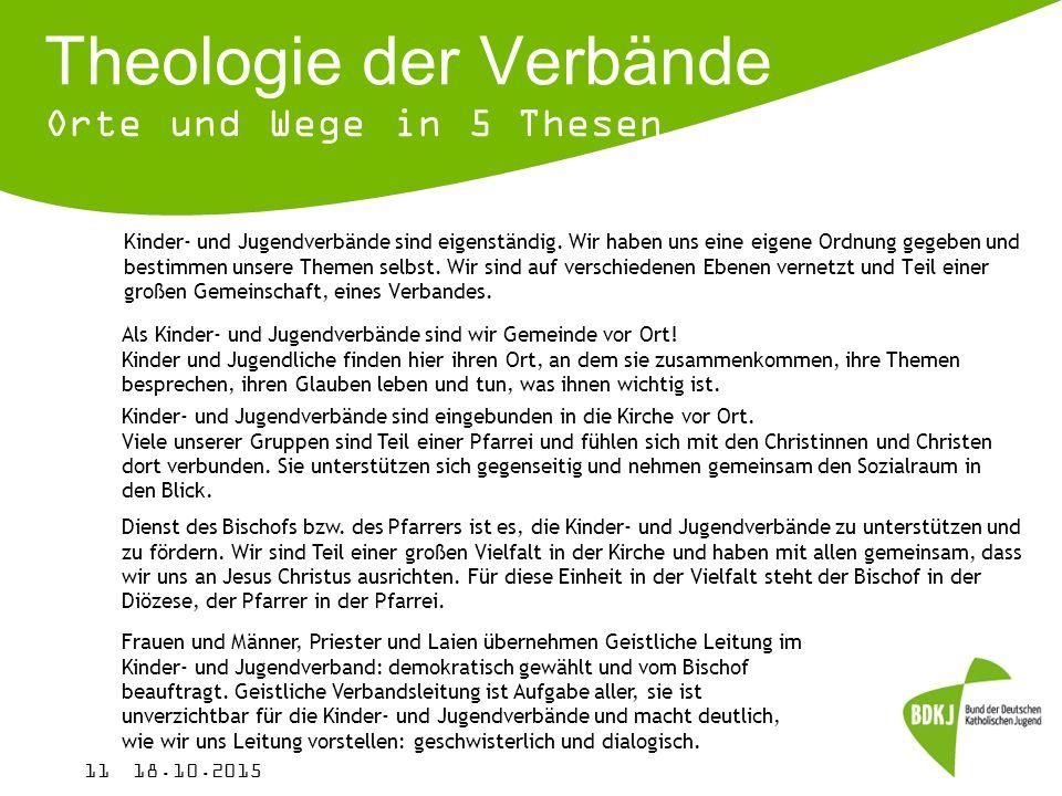 Theologie der Verbände Orte und Wege in 5 Thesen