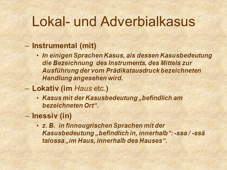 Lokal- und Adverbialkasus