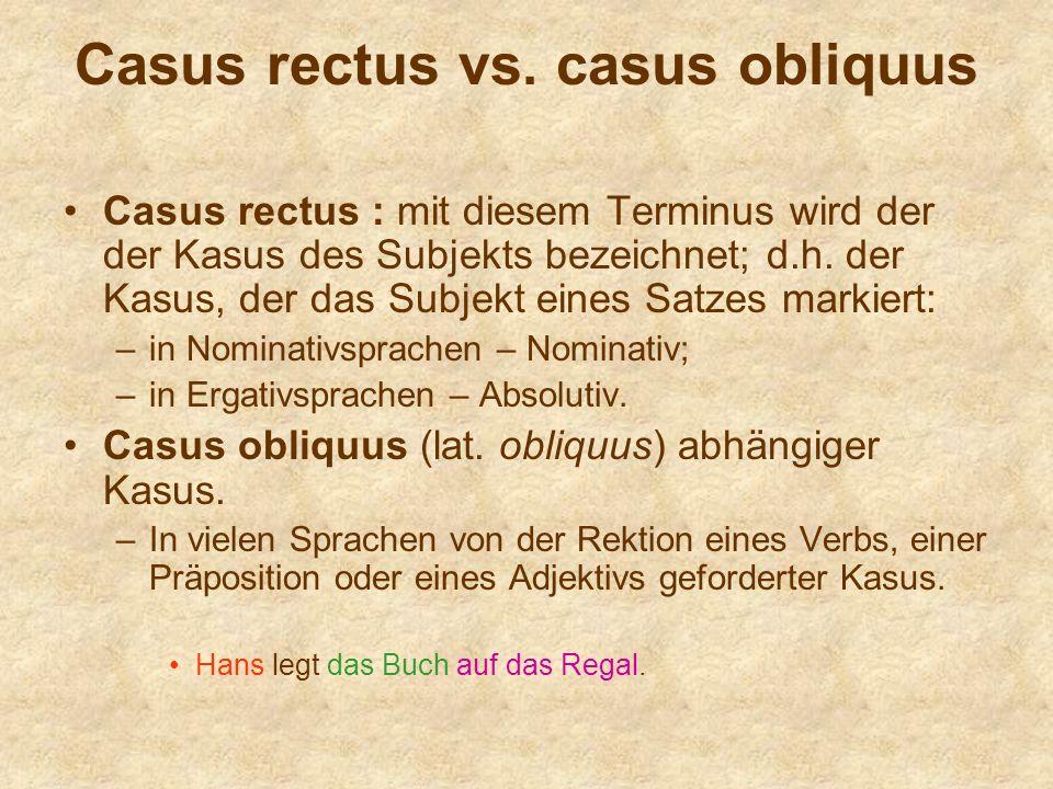 Casus rectus vs. casus obliquus