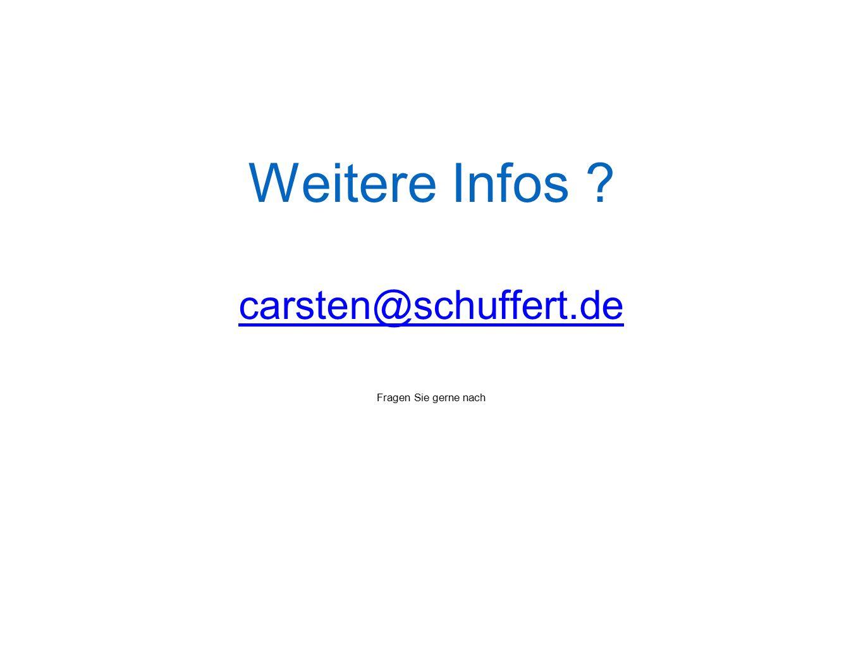 Weitere Infos carsten@schuffert.de