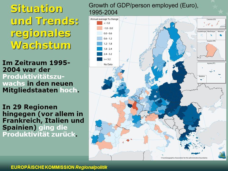Situation und Trends: regionales Wachstum