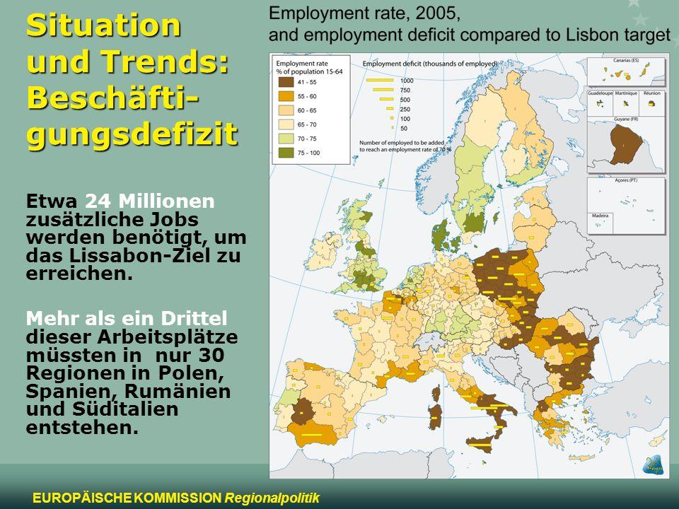 Situation und Trends: Beschäfti-gungsdefizit