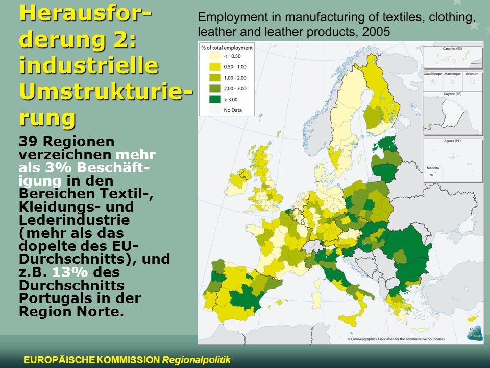 Herausfor-derung 2: industrielle Umstrukturie-rung