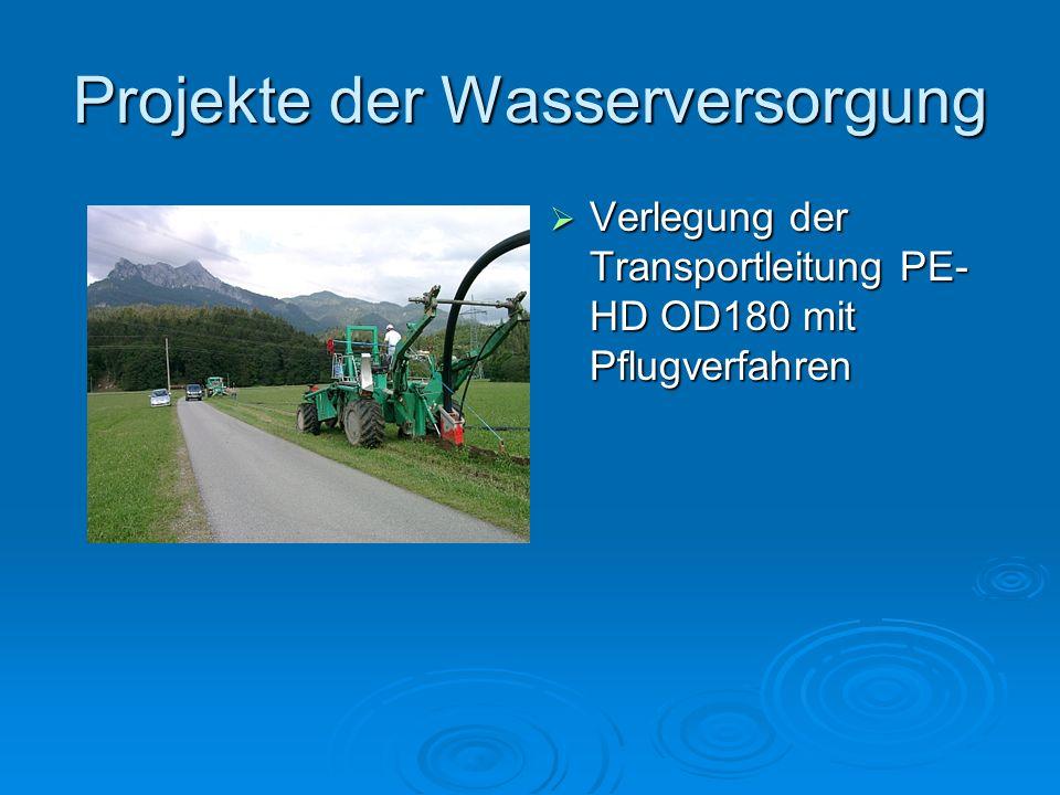 Projekte der Wasserversorgung